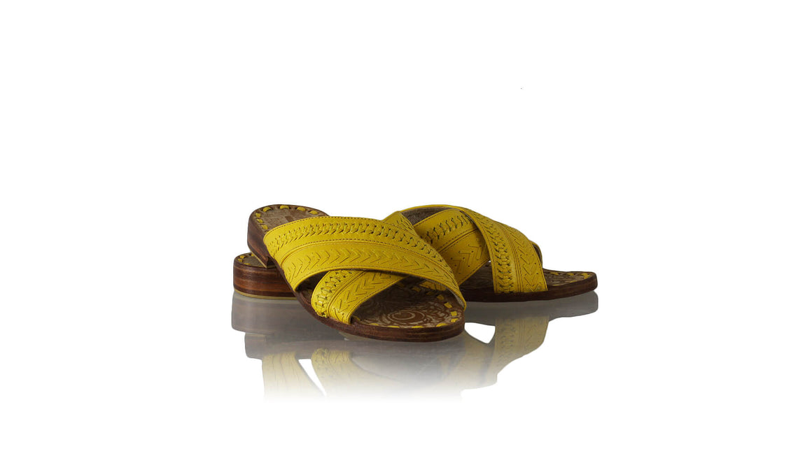Leather-shoes-Paramita 20mm Flat - All Yellow-sandals flat-NILUH DJELANTIK-NILUH DJELANTIK