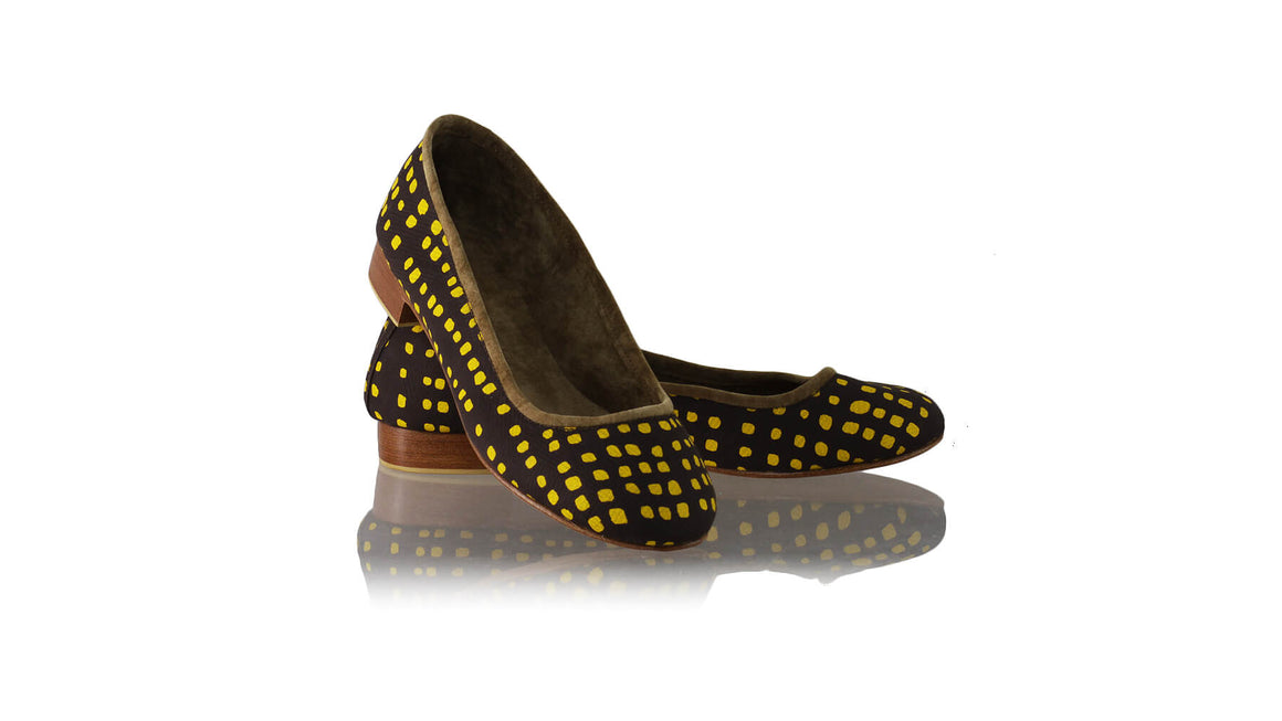 Leather-shoes-Kate Ballet 20mm - Brown & Yellow Square-flats ballet-NILUH DJELANTIK-NILUH DJELANTIK