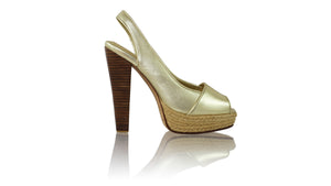 Leather-shoes-Abu PF 138mm WH - Gold-pumps highheel-NILUH DJELANTIK-NILUH DJELANTIK