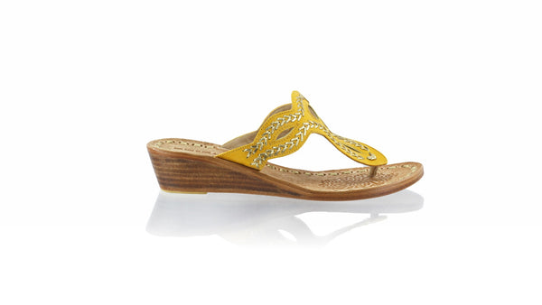 Leather-shoes-Africa 35mm Wedge - Yellow-sandals flat-NILUH DJELANTIK-NILUH DJELANTIK