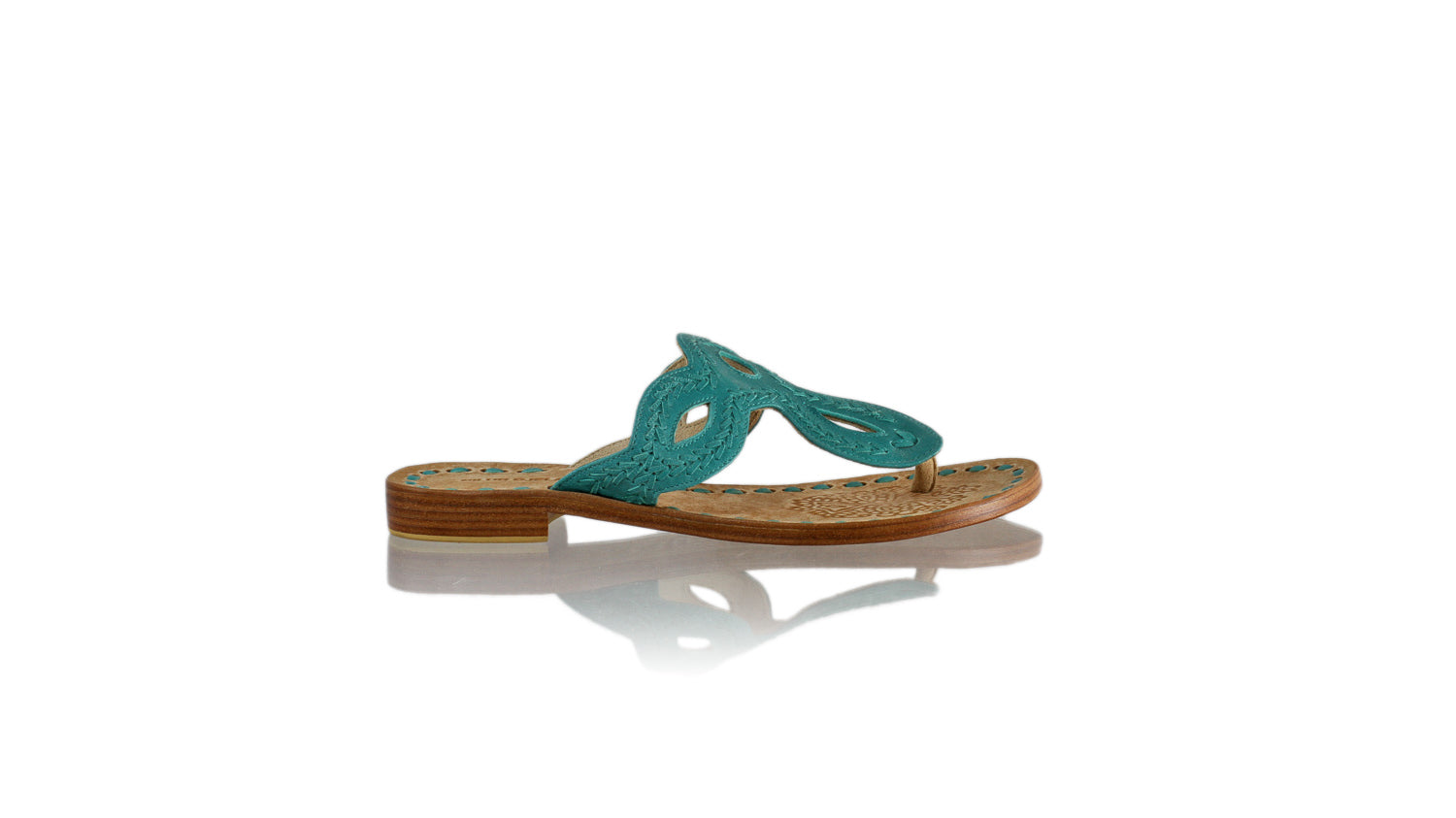 Leather-shoes-Africa 20mm Flat - All Dark Aqua-sandals flat-NILUH DJELANTIK-NILUH DJELANTIK