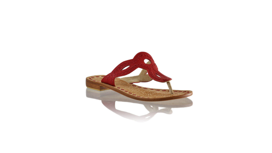 Leather-shoes-Africa 20mm Flat - All Red BKK-sandals flat-NILUH DJELANTIK-NILUH DJELANTIK