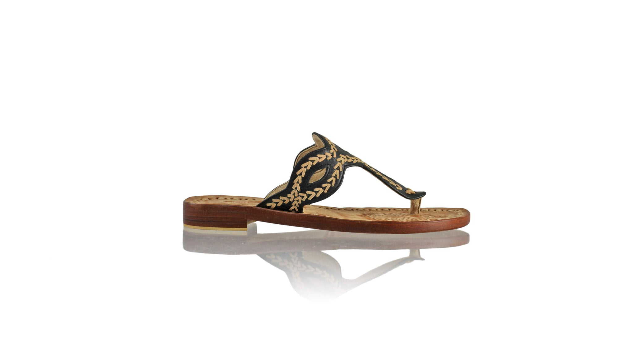 Leather-shoes-Africa 20mm Flat - Black & Nude-sandals flat-NILUH DJELANTIK-NILUH DJELANTIK