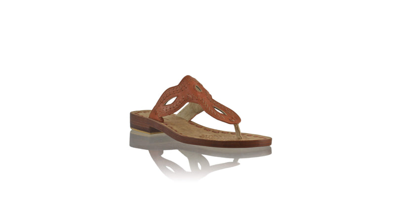 Leather-shoes-Africa 20mm Flat - Burnt Orange-sandals flat-NILUH DJELANTIK-NILUH DJELANTIK