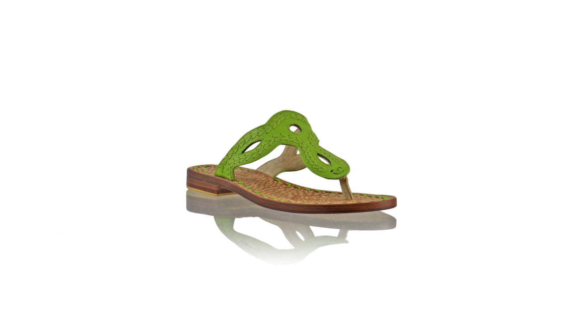 Leather-shoes-Africa 20mm Flat - Green-sandals flat-NILUH DJELANTIK-NILUH DJELANTIK