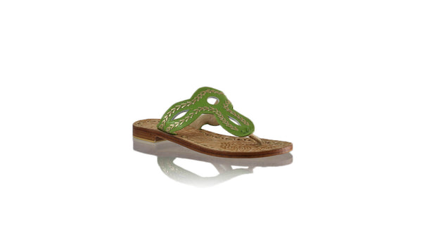 Leather-shoes-Africa 20mm Flat - Green BKK & Gold-sandals flat-NILUH DJELANTIK-NILUH DJELANTIK
