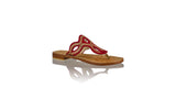 Leather-shoes-Africa 20mm Flat - Red BKK & Gold-sandals flat-NILUH DJELANTIK-NILUH DJELANTIK