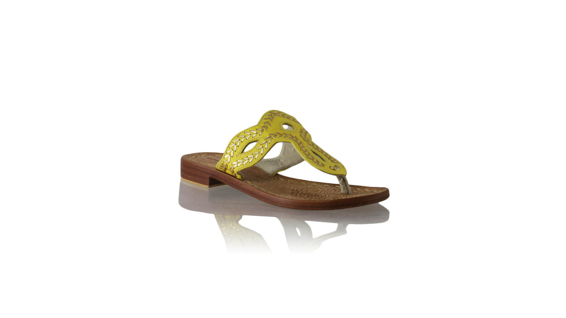 Leather-shoes-Africa 20mm Flats Sulam - Yellow & Gold-sandals flat-NILUH DJELANTIK-NILUH DJELANTIK