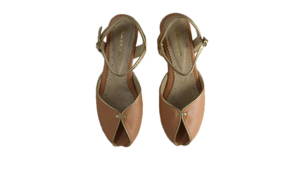 Leather-shoes-Agnes 20mm Flat - Baby Pink & Gold-sandals flat-NILUH DJELANTIK-NILUH DJELANTIK