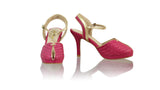 Leather-shoes-Agnes Woven 90mm SH-01 PF - Fuschia & Gold-pumps highheel-NILUH DJELANTIK-NILUH DJELANTIK