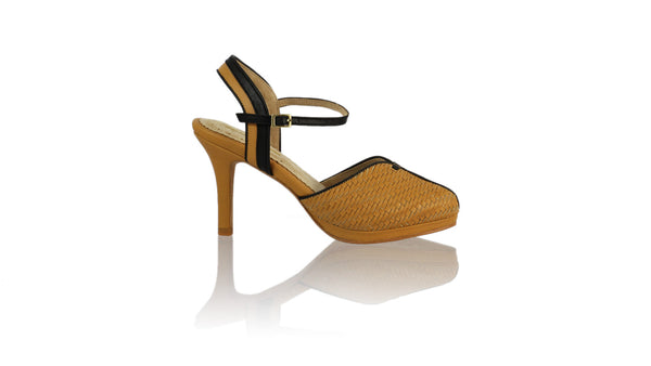 Leather-shoes-Agnes Woven 90mm SH-01 PF - Nude & Black-pumps highheel-NILUH DJELANTIK-NILUH DJELANTIK