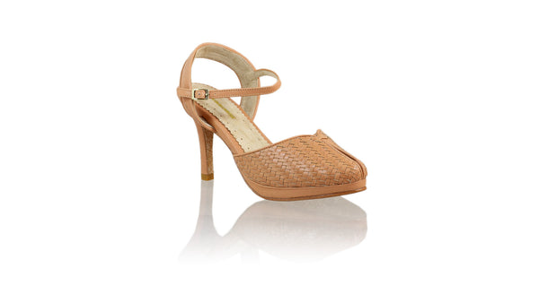 Leather-shoes-Agnes Woven 90mm SH-01 PF - Baby Pink-pumps highheel-NILUH DJELANTIK-NILUH DJELANTIK