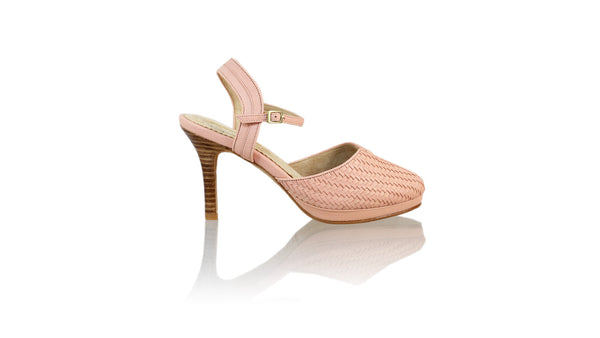 Leather-shoes-Agnes Woven 90mm SH PF - Soft Pink-pumps highheel-NILUH DJELANTIK-NILUH DJELANTIK