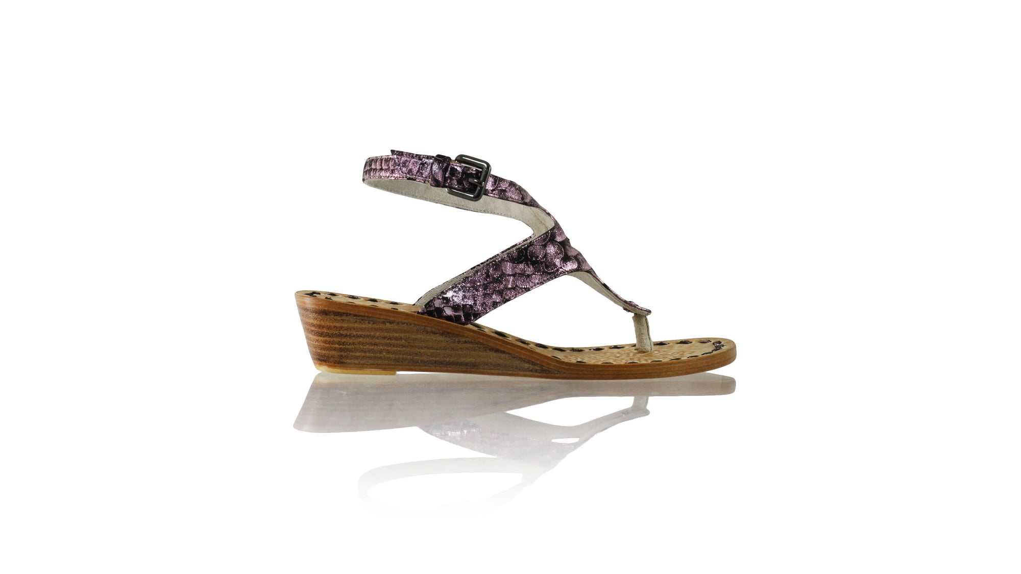 Leather-shoes-Agra 35mm Wedge - Purple Python Print-sandals wedges-NILUH DJELANTIK-NILUH DJELANTIK