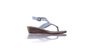Leather-shoes-Agra 35mm Wedges - White & Silver Python-sandals wedges-NILUH DJELANTIK-NILUH DJELANTIK