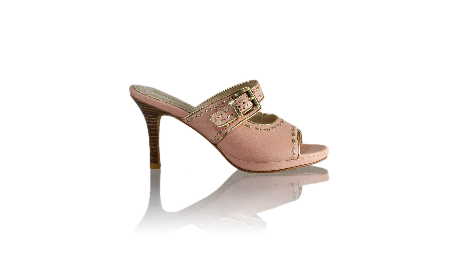 Leather-shoes-Alex 90mm SH PF - Soft Pink & Gold-sandals higheel-NILUH DJELANTIK-NILUH DJELANTIK