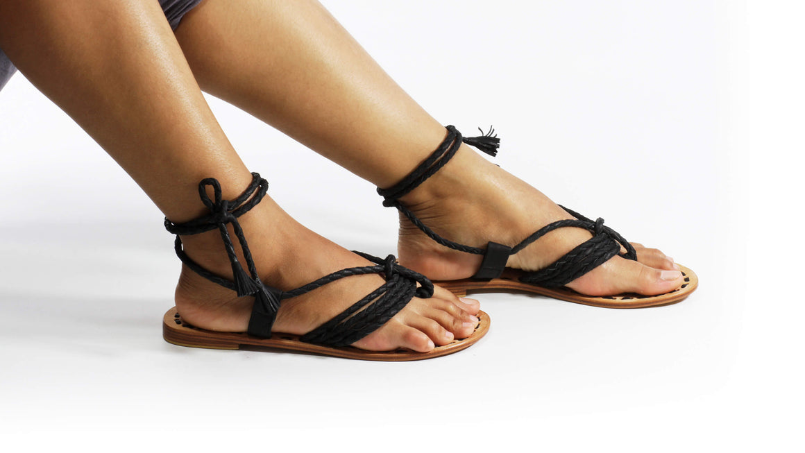 Leather-shoes-Amara 20mm Flats - Black-sandals flat-NILUH DJELANTIK-NILUH DJELANTIK