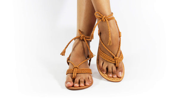 Leather-shoes-Amara 20mm Flat - Camel-sandals flat-NILUH DJELANTIK-NILUH DJELANTIK