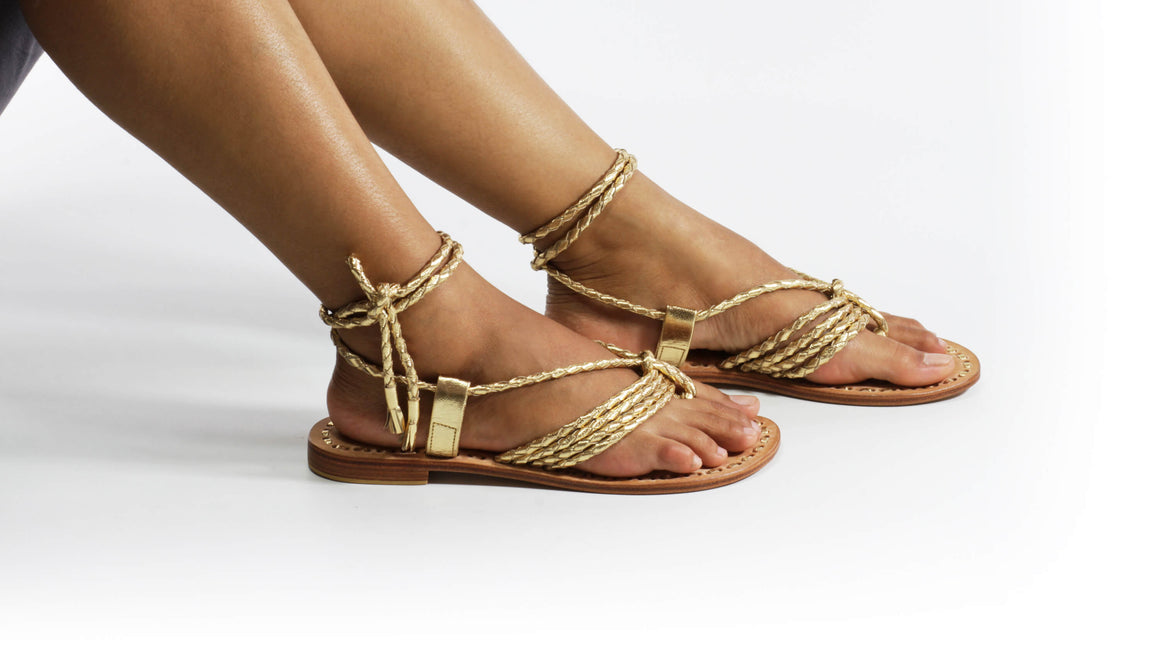Leather-shoes-Amara 20mm Flats - Gold-sandals flat-NILUH DJELANTIK-NILUH DJELANTIK