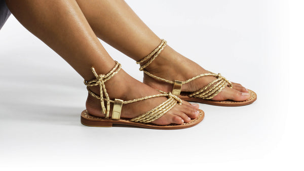 Leather-shoes-Amara 20mm Flat - Gold-sandals flat-NILUH DJELANTIK-NILUH DJELANTIK