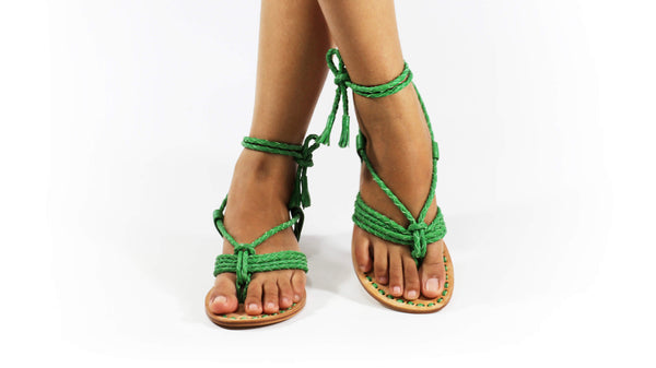 Leather-shoes-Amara 20mm Flat - Green-sandals flat-NILUH DJELANTIK-NILUH DJELANTIK