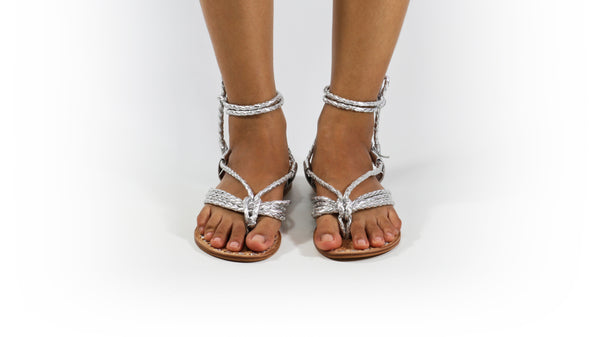 Leather-shoes-Amara 20mm Flat - Silver-sandals flat-NILUH DJELANTIK-NILUH DJELANTIK