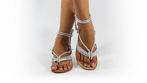Leather-shoes-Amara 20mm Flats - Silver-sandals flat-NILUH DJELANTIK-NILUH DJELANTIK