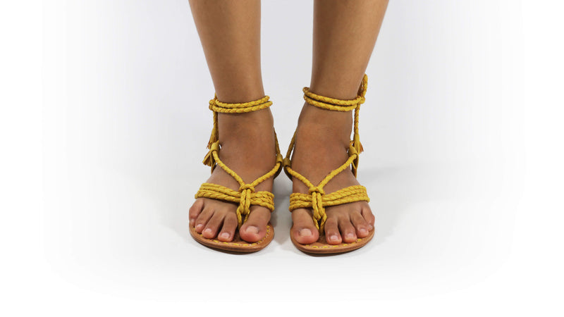 Leather-shoes-Amara 20mm Flat - Yellow-sandals flat-NILUH DJELANTIK-NILUH DJELANTIK