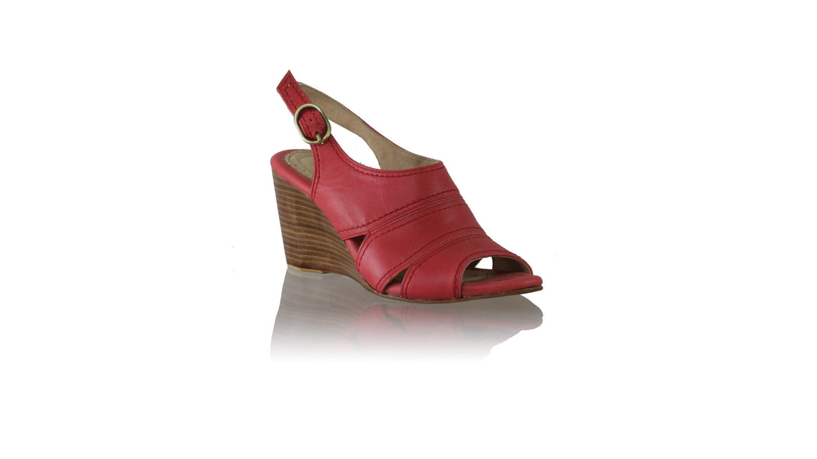 Leather-shoes-Anastasia 80mm Wedges - Red-Shoes-NILUH DJELANTIK-NILUH DJELANTIK