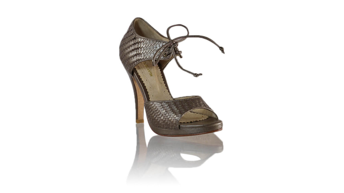 Leather-shoes-Andrea Woven SH PF 115mm - Bronze-sandals higheel-NILUH DJELANTIK-NILUH DJELANTIK