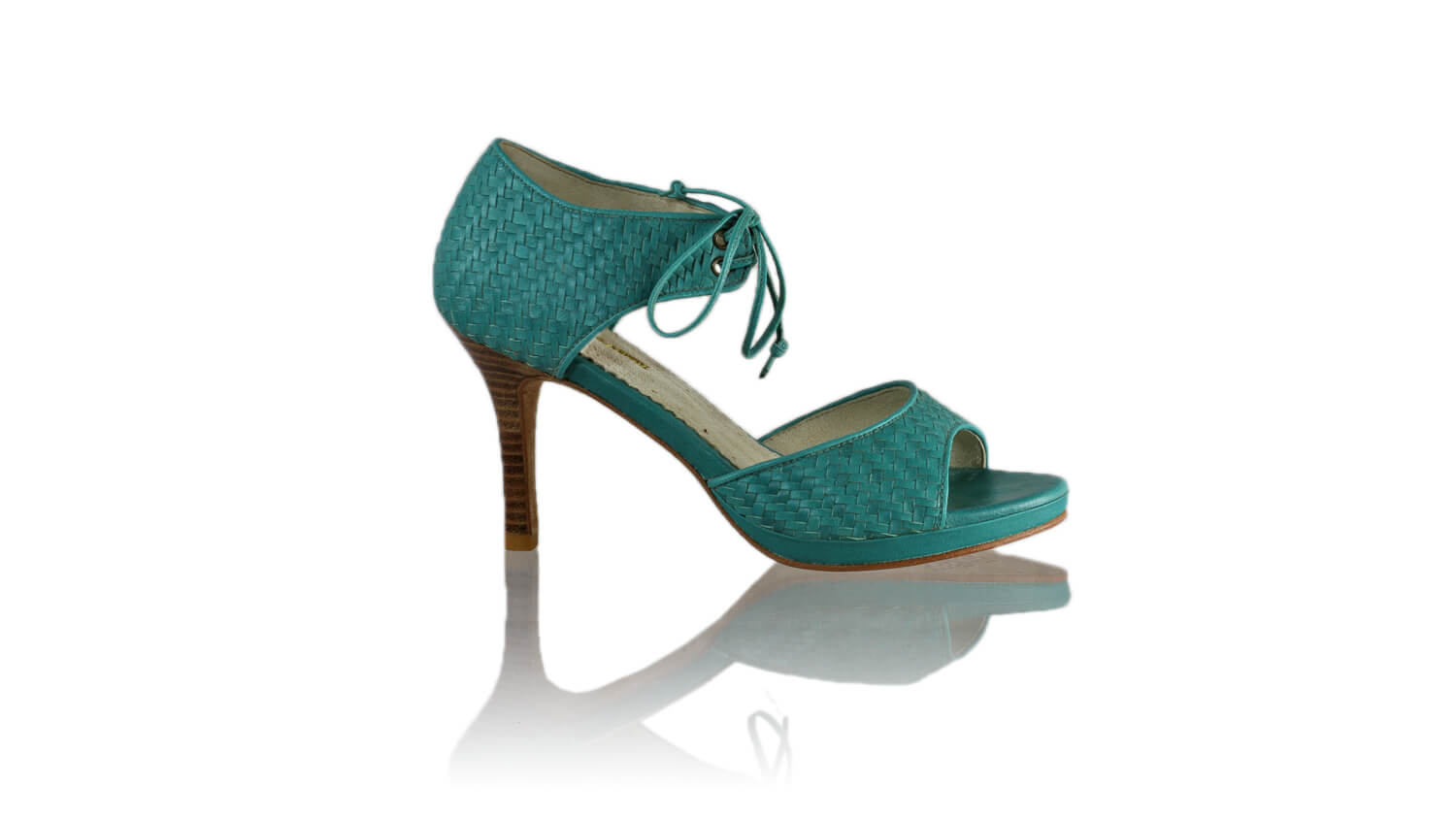 Leather-shoes-Andrea Woven 90mm SH PF - Dark Aqua-sandals higheel-NILUH DJELANTIK-NILUH DJELANTIK