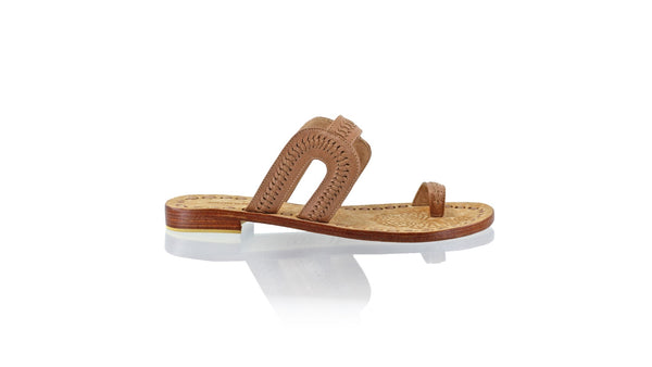 Leather-shoes-Andy 20mm Flat - Moccha-sandals flat-NILUH DJELANTIK-NILUH DJELANTIK
