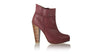 leather shoes Ankle Boot PF 140mm WH - Maroon, boots highheel , NILUH DJELANTIK - 1