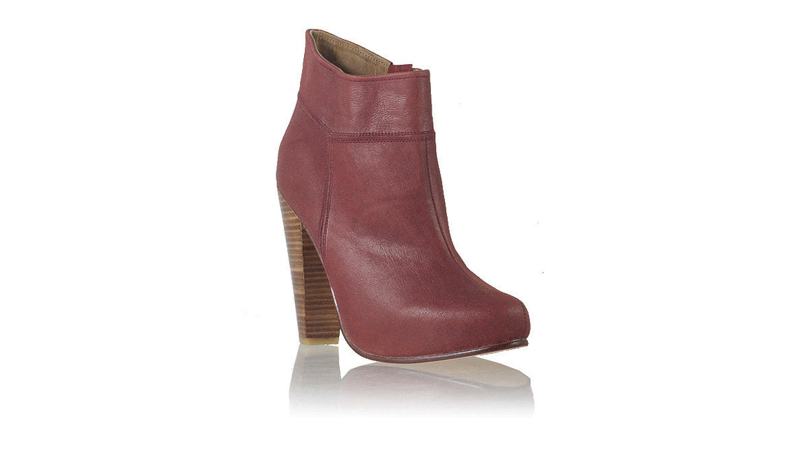 Leather-shoes-Ankle Boot PF 140mm WH - Maroon-boots highheel-NILUH DJELANTIK-NILUH DJELANTIK