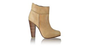 leather shoes Ankle Boot PF 140mm WH - Tan, boots highheel , NILUH DJELANTIK - 1