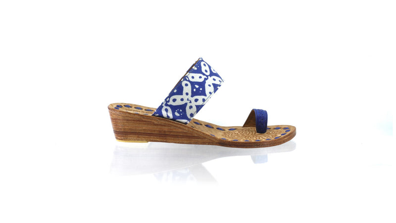Leather-shoes-Arini 35mm Wedge - Blue Batik Motif Kawung-sandals wedges-NILUH DJELANTIK-NILUH DJELANTIK