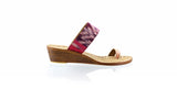 Leather-shoes-Arini 35mm Wedge - Soft Pink & Fuschia Endek-sandals Wedge-NILUH DJELANTIK-NILUH DJELANTIK