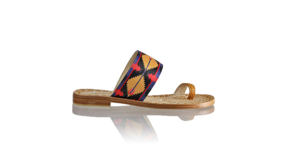 Leather-shoes-Arini 20mm Flat - Camel & Arrow Ribbon-sandals flat-NILUH DJELANTIK-NILUH DJELANTIK