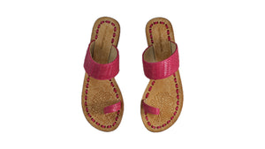Leather-shoes-Arini 20mm Flat - Fuschia-sandals flat-NILUH DJELANTIK-NILUH DJELANTIK