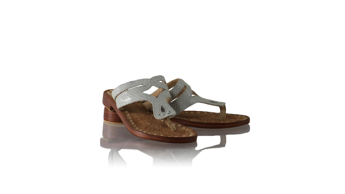 Leather-shoes-Arrah 20mm Flats - Grey Snake Print-sandals flat-NILUH DJELANTIK-NILUH DJELANTIK