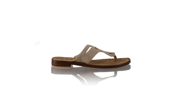 Leather-shoes-Arrah 20mm Flat - Mocha Snake Print-sandals flat-NILUH DJELANTIK-NILUH DJELANTIK