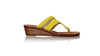 leather shoes Arrah 35mm Wedges - Yellow Snake Print, sandals flat , NILUH DJELANTIK - 1