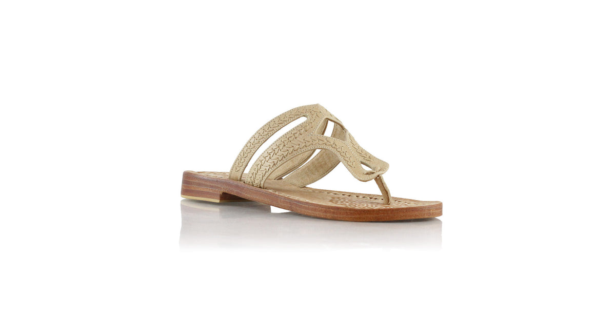 leather shoes Arrah Sulam Without Strap 20mm - All Nude, sandals flat , NILUH DJELANTIK - 1