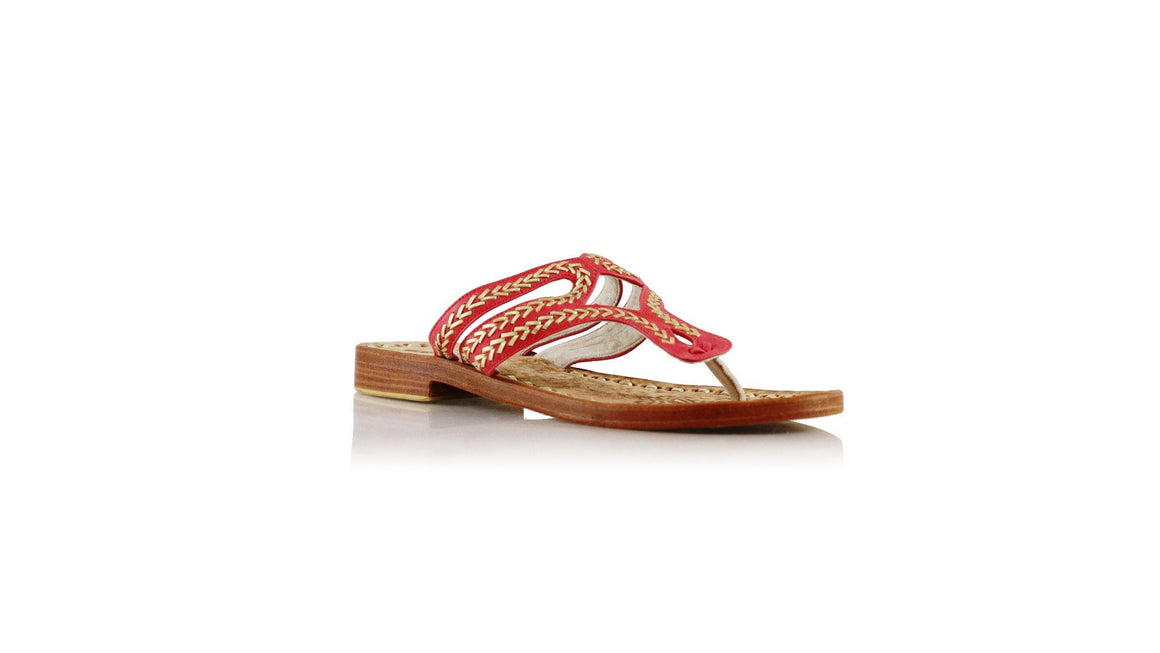 leather shoes Arrah Sulam Without Strap 20mm - Red & Gold, sandals higheel , NILUH DJELANTIK - 1