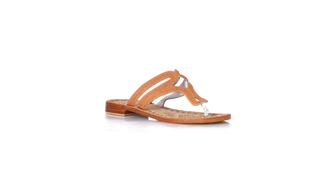 leather shoes Arrah Sulam Without Strap 20mm Flats - All Burnt Orange, sandals flat , NILUH DJELANTIK - 1