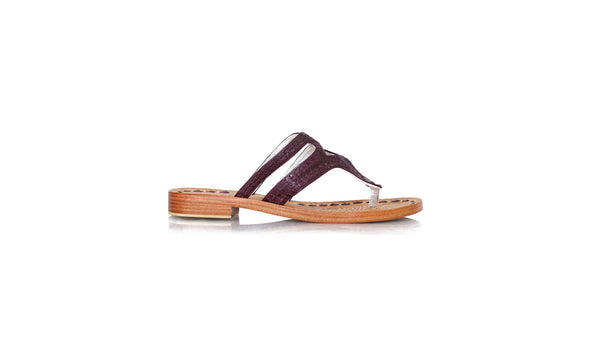 Leather-shoes-Arrah 20mm Flat - Deep Purple Vintage-sandals flat-NILUH DJELANTIK-NILUH DJELANTIK