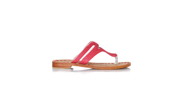 Leather-shoes-Arrah 20mm Flat - Red-sandals flat-NILUH DJELANTIK-NILUH DJELANTIK