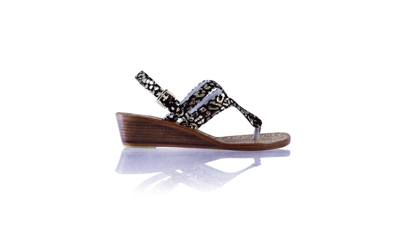 Leather-shoes-Emma 35mm Wedge - Black & Gold Leopard Print-sandals wedges-NILUH DJELANTIK-NILUH DJELANTIK