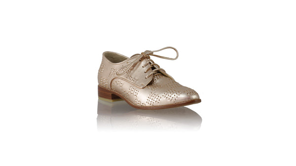 Leather-shoes-Arvi 25mm Flat - Rose Gold-flats laceup-NILUH DJELANTIK-NILUH DJELANTIK