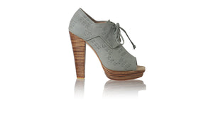 leather shoes Arvi Peep Toe PF 140mm WH - Light Grey, pumps highheel , NILUH DJELANTIK - 1